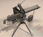 精品重机枪3d模型-附完整贴图 喜欢的下载