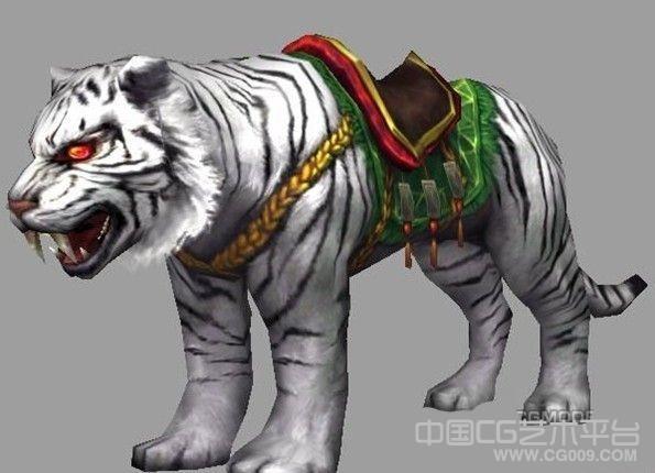 游戏精品坐骑-白虎3d模型下载