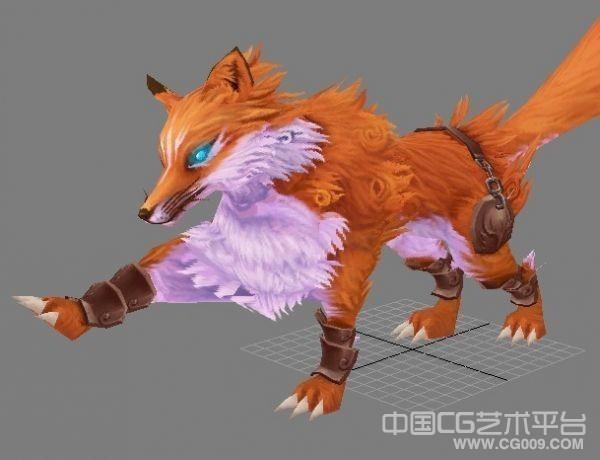 一只火红的狐狸3d精品模型下载