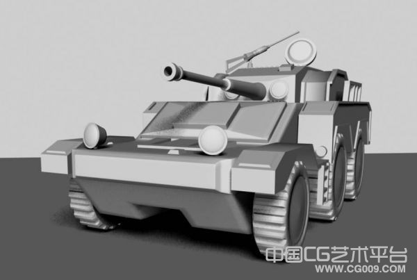 比较简单的一辆装甲车maya模型下载