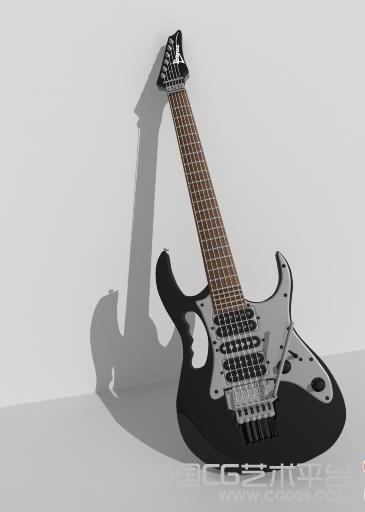 一款很精细的电子吉他maya模型下载