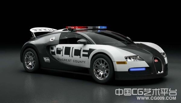 送大家一辆NFS14里超diao的警车布加迪威龙 喜欢的