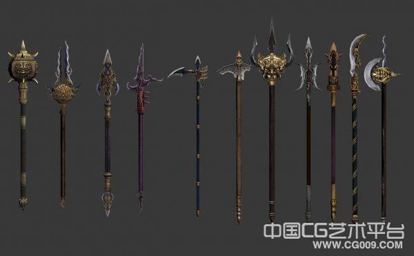 【流星蝴蝶剑】游戏所有武器模型下载 武器3d模