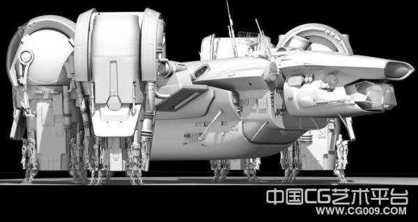 科幻太空登陆舰+火星太空服+,战舰3d模型下载,
