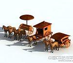 战国时期的马车古代马车3D模型下载