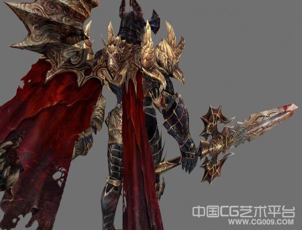 次时代黄金铠甲装备游戏boss精品模型,喜欢的赶