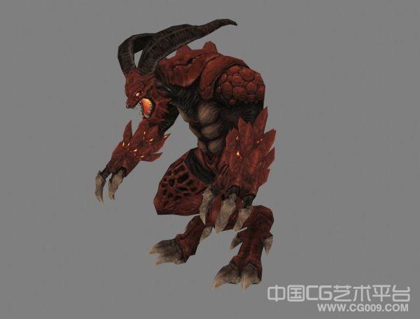 次时代精细红魔怪物模型下载