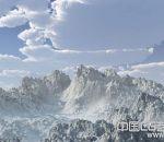 写实高山雪景场景模型下载