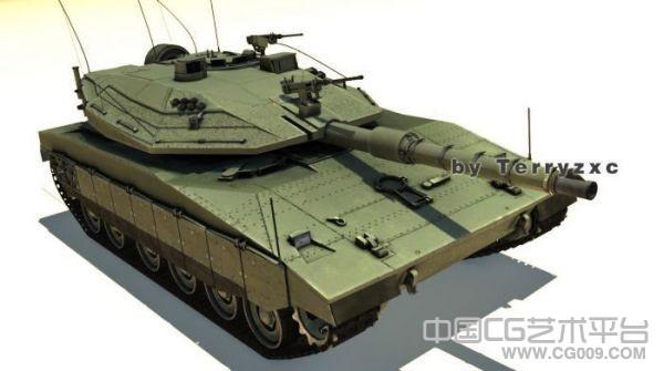 高品质精细装甲车模型有贴图 以色列梅卡瓦4型