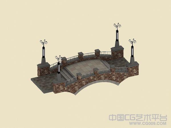 景观桥模型