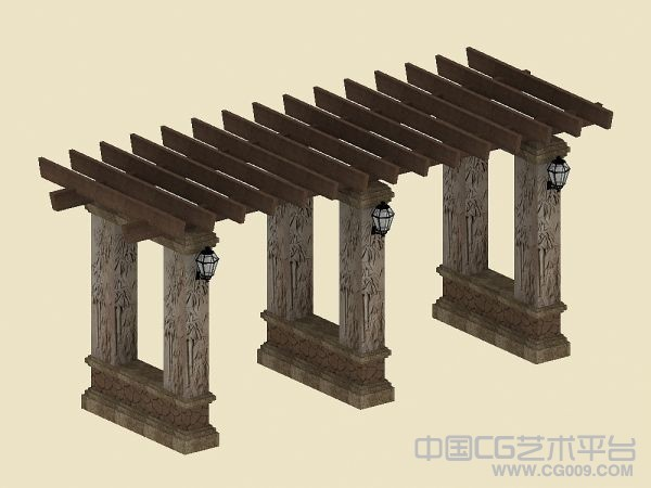景观花架模型