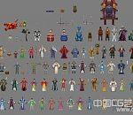 诛仙人物、怪物、武器NPC合集模型下载