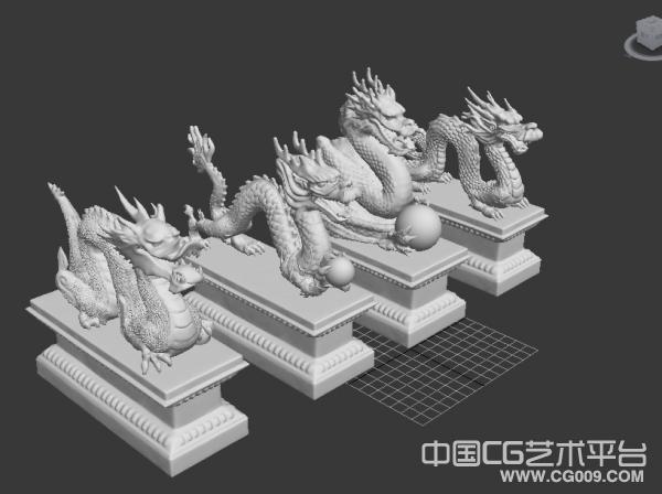 四座龙雕高模四条不同的龙模,喜欢的下载