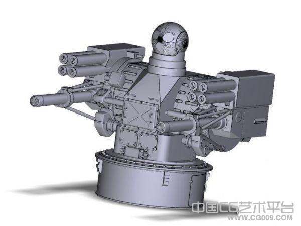 航母新武器-11管30毫米近防炮模型下载
