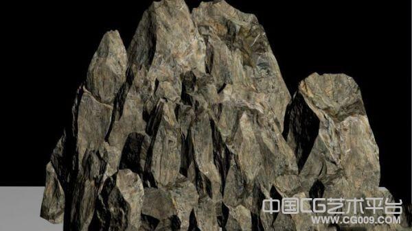 写实类游戏石山模型分享,带贴图