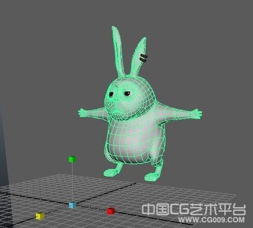 一个卡通兔子布线很不错,适合做动画,喜欢的