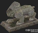 各种动物石雕场景模型收集合集打包下载 有贴图