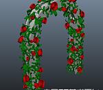 非常漂亮的玫瑰花拱门模型 有贴图