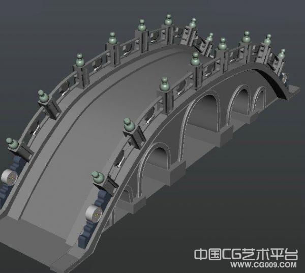 西湖拱桥场景模型 maya格式