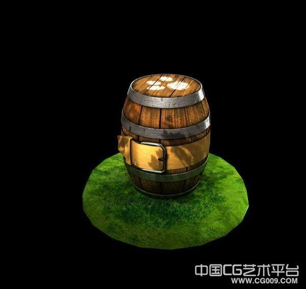 比较精细的木桶、酒桶、炸药桶3D模型下载