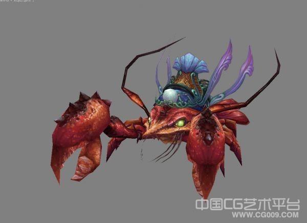 【人鱼传说】超级大龙虾3D模型下载 有贴图