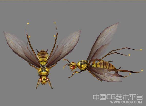 【人鱼传说】黄蜂3d模型下载 CG黄蜂模型,黄蜂