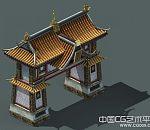 皇宫城门高精3d写实建筑场景模型下载