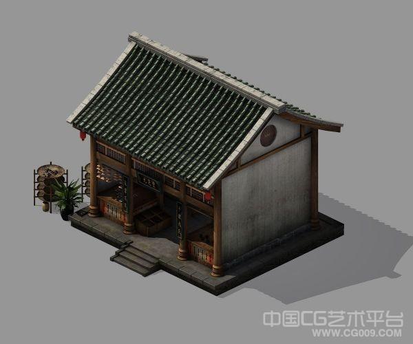 中医药馆模型 3d医馆 药铺