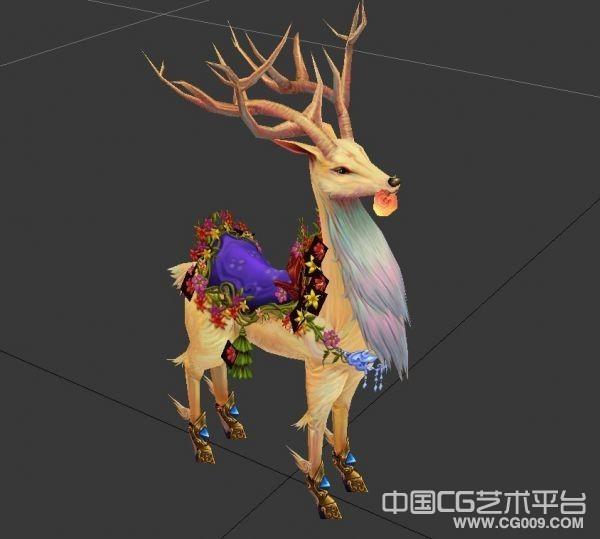 很漂亮的九色仙鹿模型下载