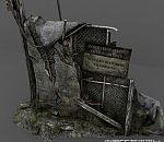 次时代老式电线杆场景模型下载