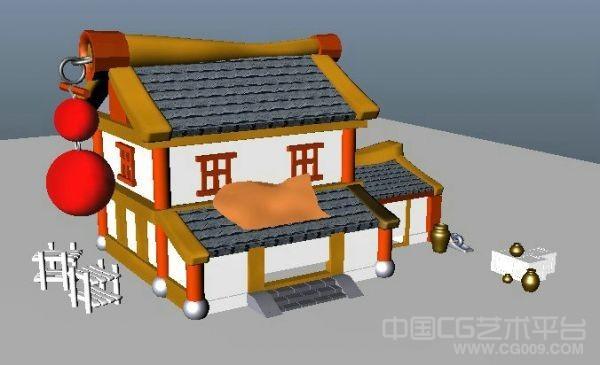 Q版卡通房子模型下载