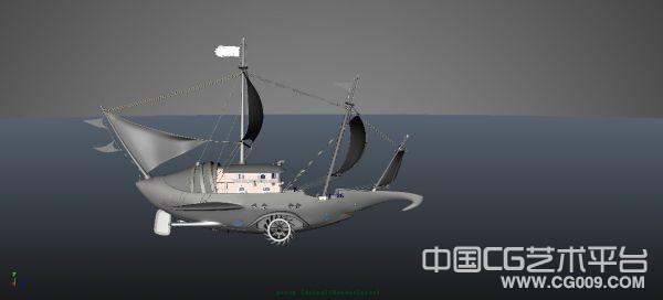 一艘海上帆船,里面带人物模型下载