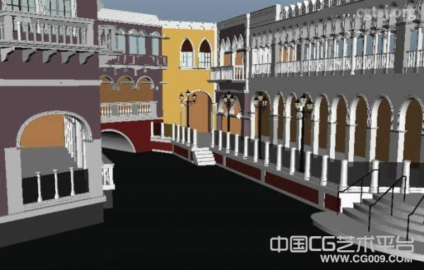 威尼斯水城3d场景模型下载