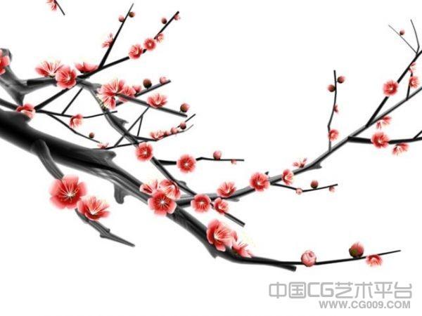 中国风梅花