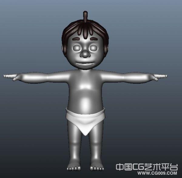 卡通男孩宝宝maya模型下载