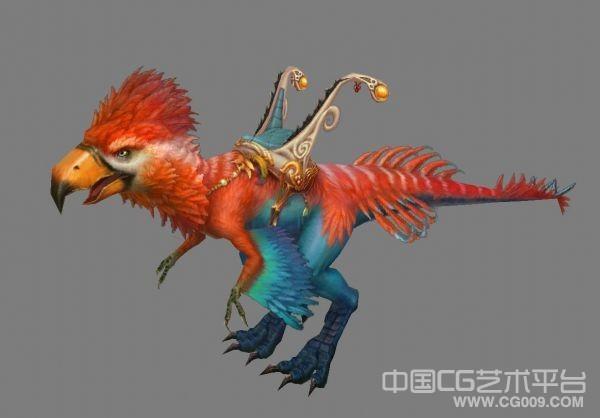 精品坐骑-彩色大鸟3d动物模型下载