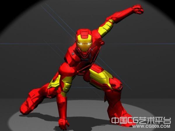 钢铁侠3d带绑定模型