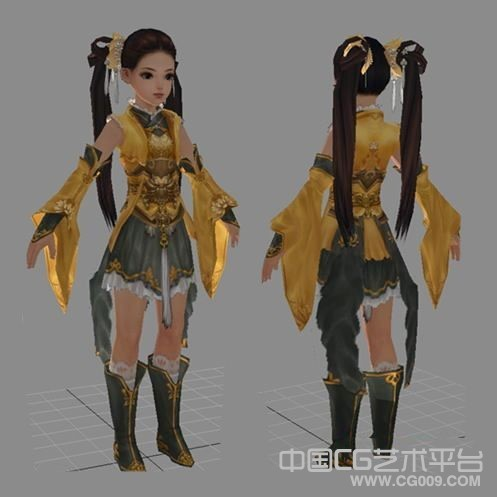 剑三小美女3d模型下载