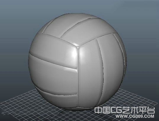 一个很不错的maya排球模型下载