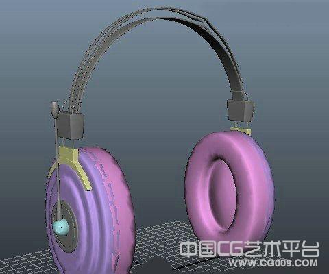 maya耳机模型下载
