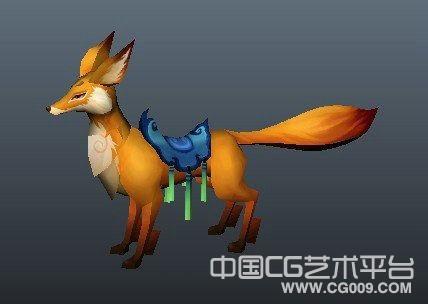 金色狐狸maya模型下载 带贴图