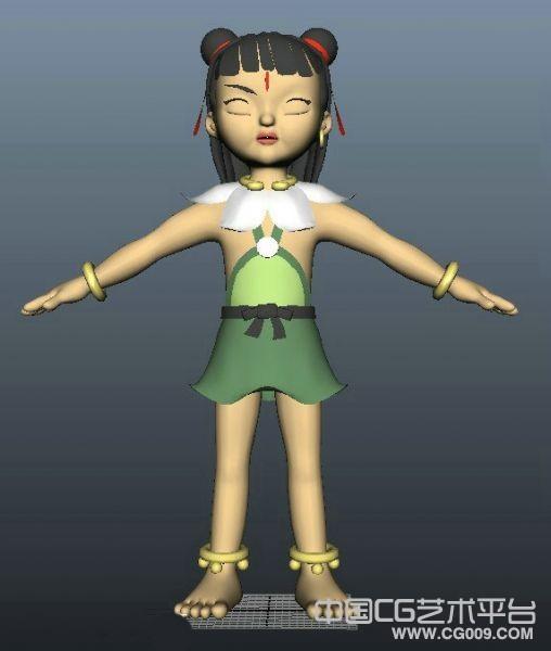 观音身边的神通卡通maya模型下载