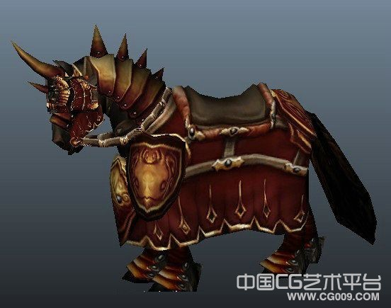 一匹挂满战袍的宝马坐骑3d模型下载