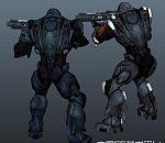 次时代机械铠甲恐怖战士maya模型下载  带贴图