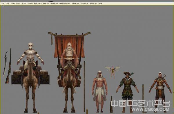 神魔大陆人物、怪物、动物模型合集下载