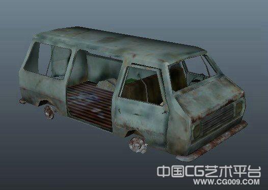 废旧汽车3d模型下载
