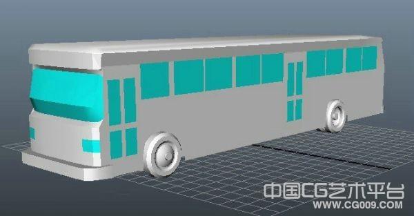 简单的大巴士汽车3d模型下载