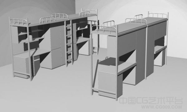 大学宿舍室内场3d景模型下载