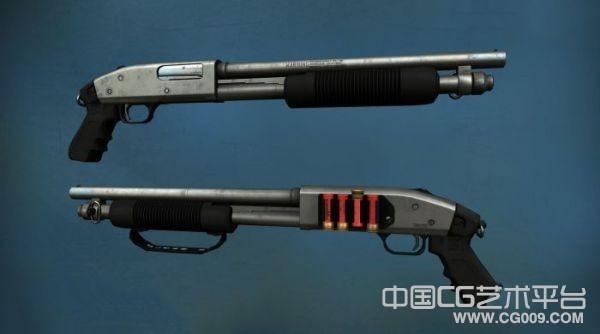m500口径的来复枪3d模型下载