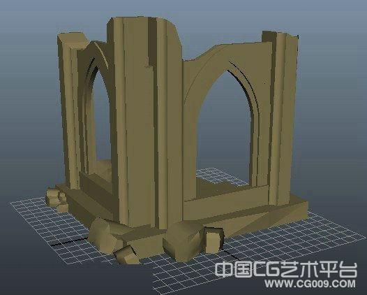 房子废墟场景 简单的房子墙壁模型 3d房子模型下